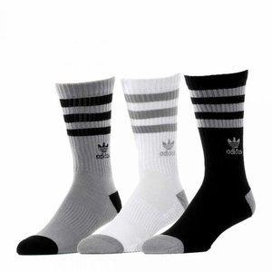 3 Pack adidas Originals Roller Crew Sock Size 6-12